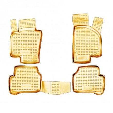 Guminiai kilimėliai 3D VW Passat B6 2005-2010, 4 pcs. /L65031B /beige