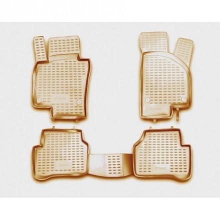 Guminiai kilimėliai 3D VW Passat B7 2011-2015, 4 pcs. /L65032B /beige