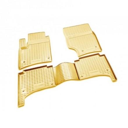 Guminiai kilimėliai 3D VW Touareg  2002-2010, 4 pcs. /L65040B /beige