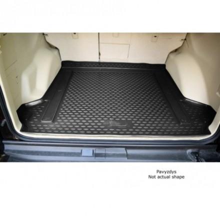 Guminis bagažinės kilimėlis VOLKSWAGEN Sharan 1995 - 2010 ,black /N41043