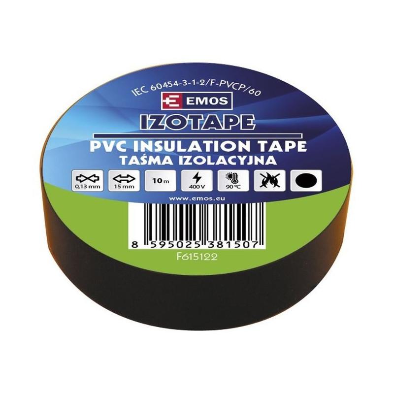 PVC. izoliacinė juosta IZOTAPE E 15mm x 10m juoda