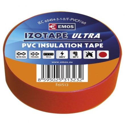 PVC. izoliacinė juosta IZOTAPE ULTRA 15mm x 10m raudona