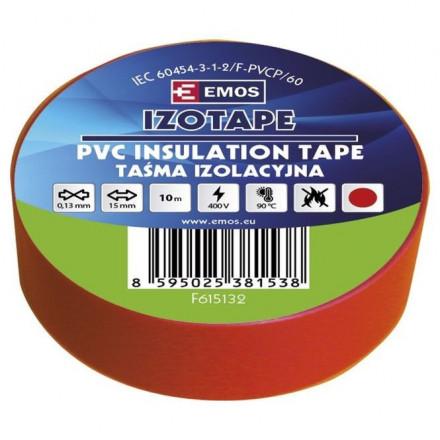 PVC. izoliacinė juosta IZOTAPE E 15mm x 10m raudona