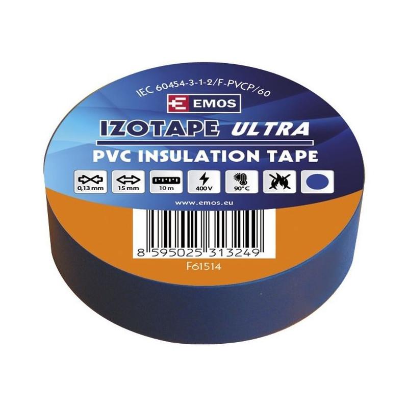 PVC. izoliacinė juosta IZOTAPE ULTRA 15mm x 10m mėlyna
