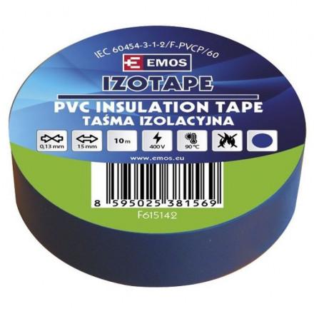PVC. izoliacinė juosta IZOTAPE E 15mm x 10m mėlyna