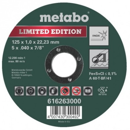 Pjov.disk.metalui 125x1mm Special Edition II Inox Metabo