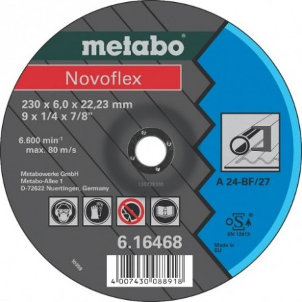 Šlifavimo  diskas 125x6mm A24 Novoflex Metabo