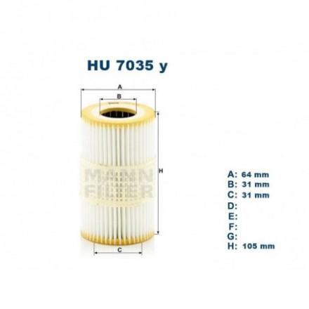 MANN-FILTER Tepalo filtras HU7035y