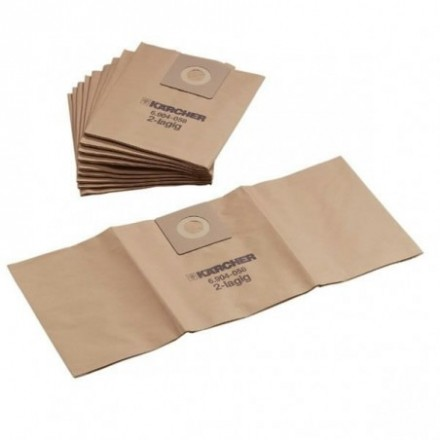 Popieriniai filtrų maišeliai NT 35/1 5vnt cemento dulkėms. Karcher